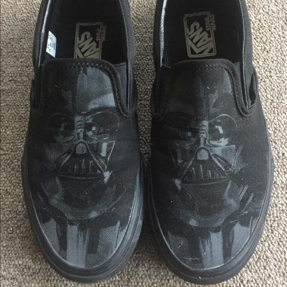 1be51a1c55b9f0 VANS Darth Vader Slipons Size 7.5. M 5a4ed8dd61ca1062d1003348